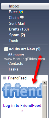 Friend Feed at left Facebook, Twitter, Friendfeed and Google Buzz Use/Integrate All In Gmail