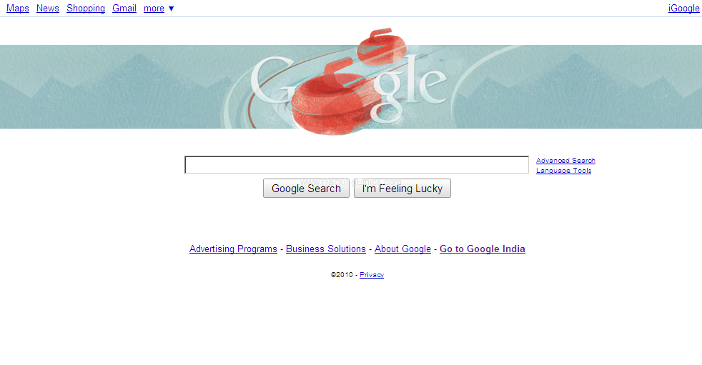 Google Doodle Winter Olympics 2010 16th Feb