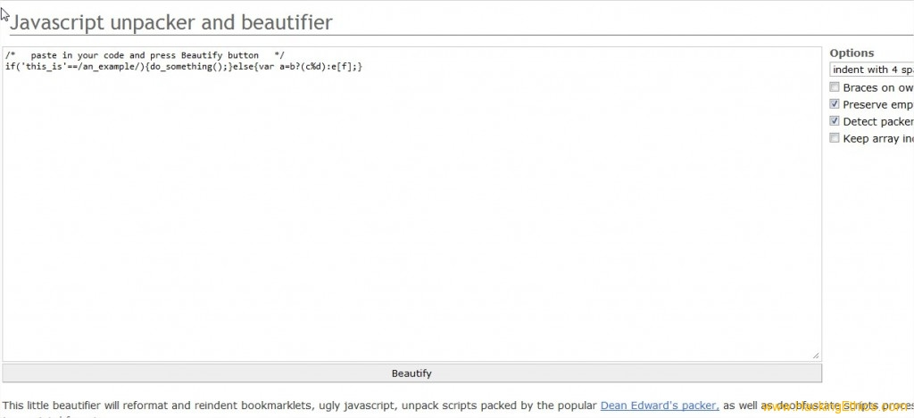 JS Beautifier One 1024x469 3 Online Tools To Make Your Javascript Code Beautiful   JS Beautifier