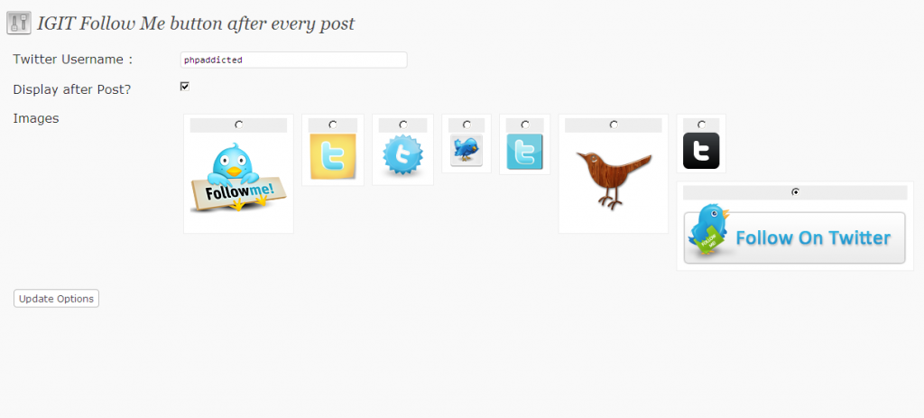 Follow me button admin panel 1024x463 IGIT Follow Me After Post Button