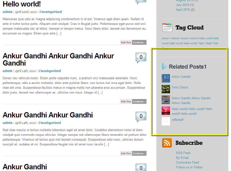 Download WordPress Related Posts Thumbnails Plugin - spBlogger.com